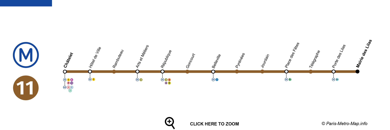 metro 11 paris