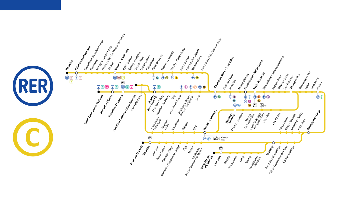 Paris RER Map 2018 Lines Schedules Stations Tickets Tourist Info